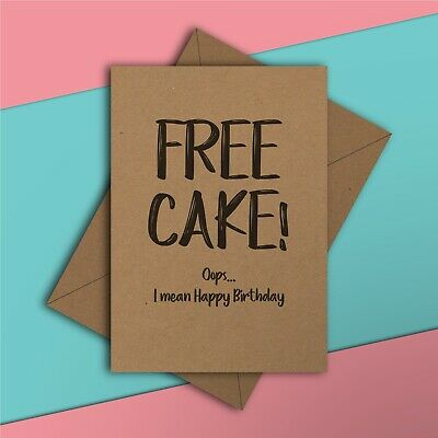 Swell Free Cake Funny Birthday Card Girlfriend Boyfriend Friend Funny Birthday Cards Online Fluifree Goldxyz