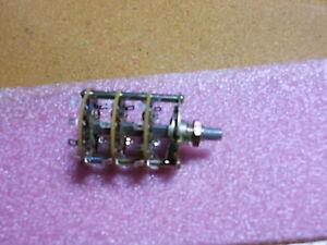 2pcs of A40315RNZQ C/&K Rotary Switch 4P3T Flatted Shaft PC Pins 2.5A 125V