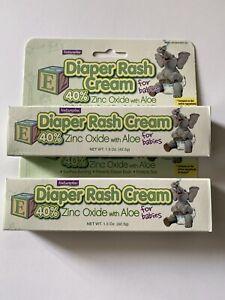 2 x 1.5 oz  Natureplex Diaper Rash Cream 40% Zinc Oxide with Aloe for Babies