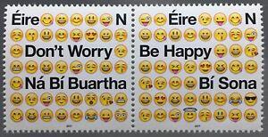 Irland-2017-Michel-Nr-2216-17-Positive-Emotionszeichen-Emojis-Don-t-worry