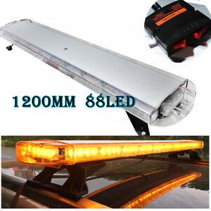 Led Strobe Lights For Trucks >> Details About 48 88 Led Emergency Warning Beacon Tow Truck Plow Strobe Light Bar Amber