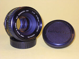 Minolta-MC-ROKKOR-PF-50mm-1-1-7-lens-in-extremely-good-condition