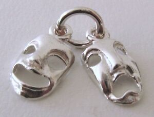 SOLID-925-STERLING-SILVER-DRAMA-THEATRICAL-MASK-Charm-Pendant