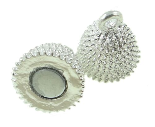 5 Magnet Verschluss Oval Silber Verschlüsse Verbinder Messing Stardust BEST M420