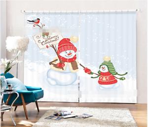 3d hombre de nieve 593 bloqueo foto presión cortina cortinas cortina de ventana de tela de