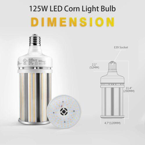 125W LED Corn Cob Bulb Retrofit 400W MH Warehouse Highbay Light E39 6000K UL/&DLC