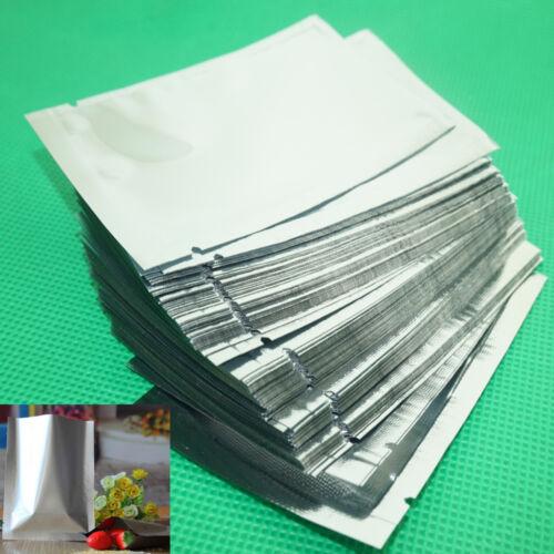 100pcs Silver Aluminum Foil Mylar Bag Vacuum Bag Sealer Food Storage Package 100