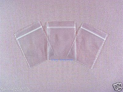 "100 Ziplock Reclosable Zipper Bags 1.5"" x 2.5""_40 x 65mm"