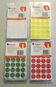 1008-UNIVERSAL-3-4-034-ROUND-COLOR-CODING-LABELS-STICKER-DOTS-INVENTORY-CODE