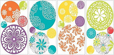 DOTS CIRCLES wall stickers 20 colorful patterned decals room decor