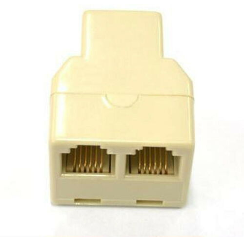 10 PCS RJ12 6P6C 1 to 2 Y Type FEMALE ADAPTER  SPLITTER Extension Joiner Phone