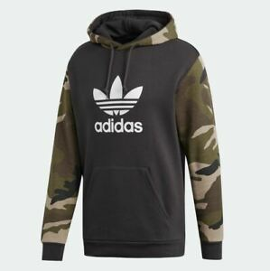 Details about New Adidas 2019 Men Camouflage Hoodie Camo Pullover Jacket Trefoil DV2023