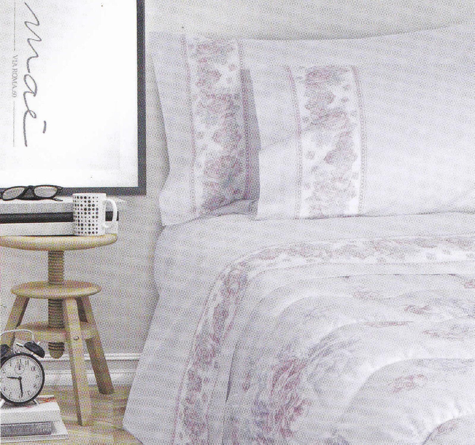 Completo letto, lenzuola calda Flanella MAE' DESERT pink Matrimoniale, 2 Piazze.