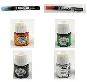Crafts Painting Supplies Pebeo Vitrea 160 Glass Paint 12 Piece Set As Pictured