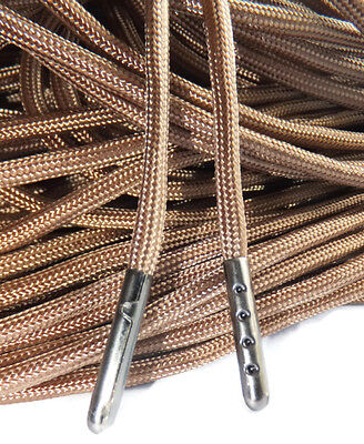 Boot laces Round Walking Lace Tip Black TIPPED Shoelaces ANY LENGTH