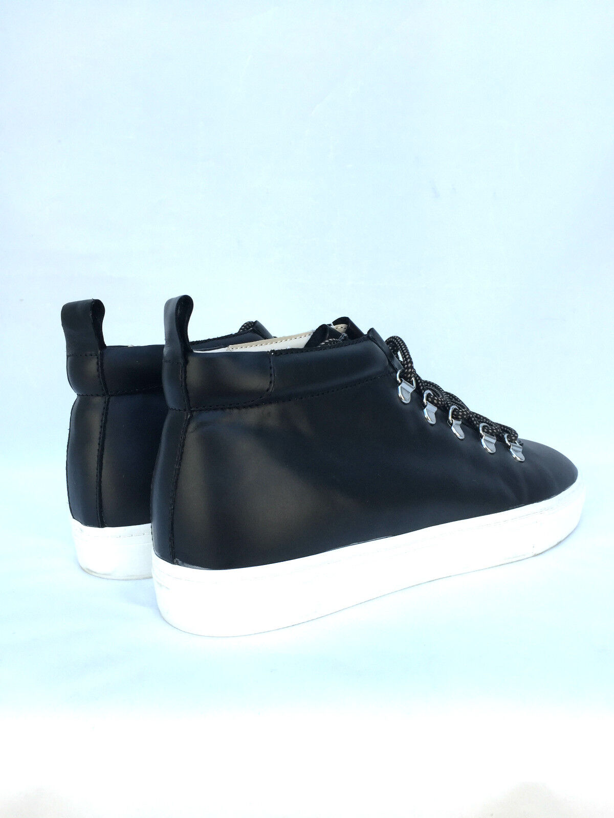 ZARA SNEAKERS Damenschuhe BLACK LEATHER HIGH TOP SNEAKERS ZARA TRAINERS SIZE UK5 UK7 a57fff