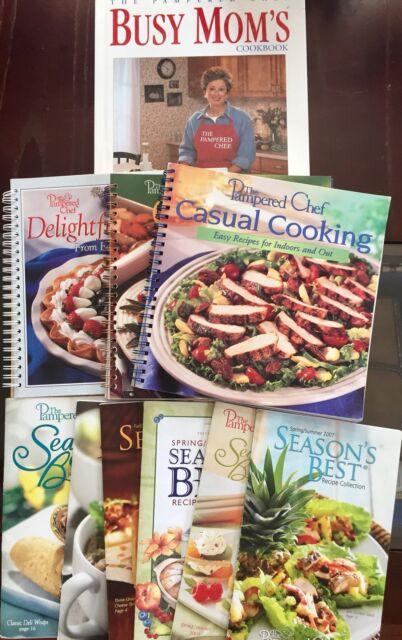 Pampered Chef Lot of 10 Cookbooks Doris Christopher Book Season's Best Spiral