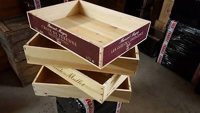 Enthousiast Flat Half Size Genuine French Wooden Wine Crate Box - Hamper Storage Planter ^^ Goede Metgezellen Voor Kinderen Evenals Volwassenen