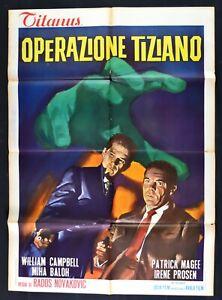 Werbeplakat Betrieb Tiziano Operacija Ticijan Novakovic Campbell 1964 M324