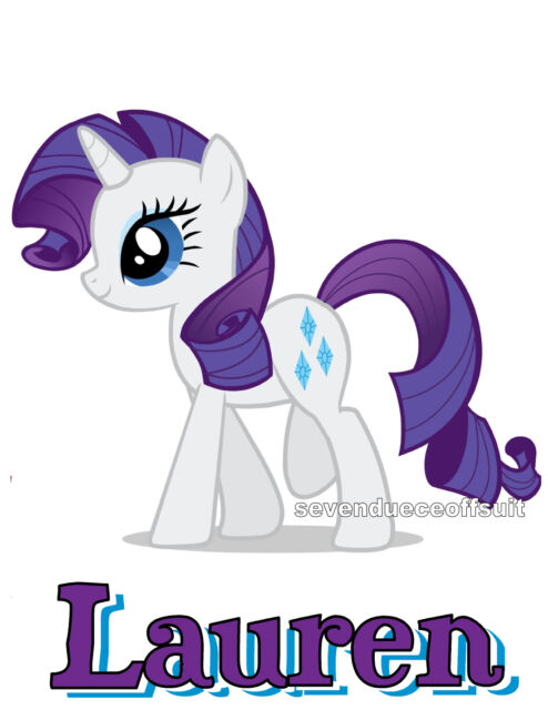 2639f7ac2 CUSTOM PERSONALIZED MY LITTLE PONY MANE SIX RARITY MLP T SHIRT PARTY GIFT