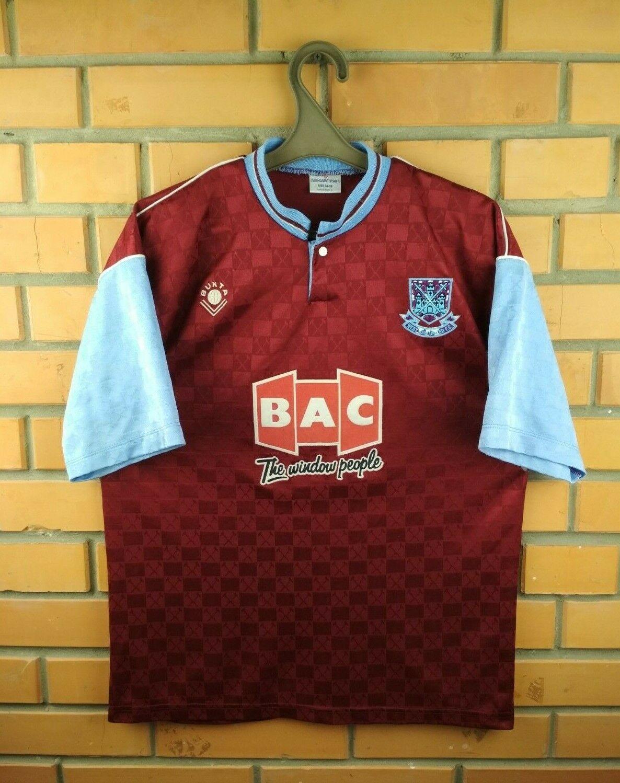 West Ham United Camiseta pequeña 1989 1990 Hogar Camiseta de fútbol fútbol Bukta