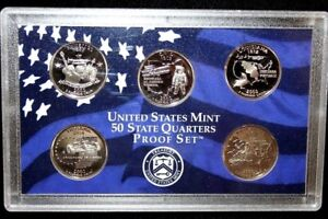 2002 united states mint 50 state quarters SILVER PROOF SET-original package COA