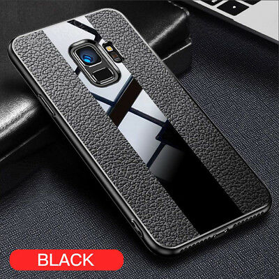 Ultra Shockproof Leather Hybrid Glass Soft Case Cover For Samsung Galaxy S9 Plus