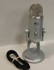 BLUE YETI CONDENSER WIRED USB STEREO PROFESSIONAL MICROPHONE - SILVER - W/ EXTRA