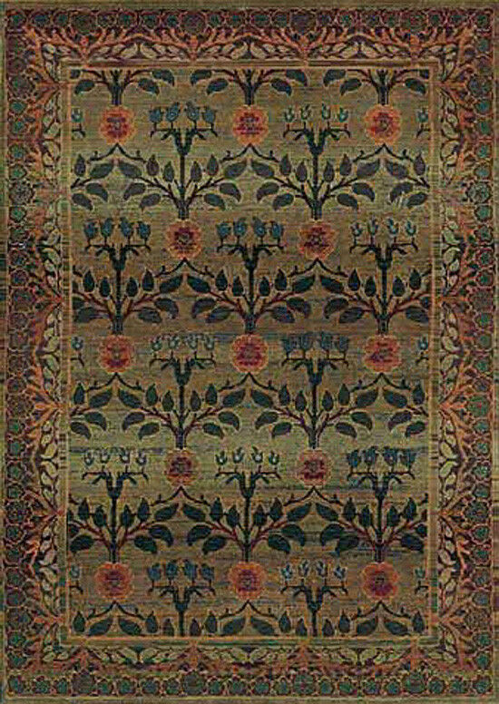 2x3 Sphinx Persian Flowers verde Oriental 450G Area Rug - Approx 2' x 3'