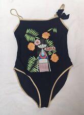 LITTLE MARC JACOBS Navy Aloha One-Piece Bathing Swim Suit $86- Sz 12