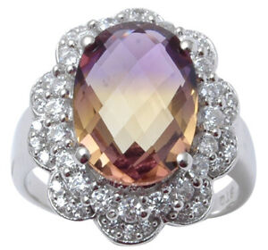 925-Sterling-Silver-Ametrine-Stone-Designer-Ring-Indian-Fashion-Women-Jewelry