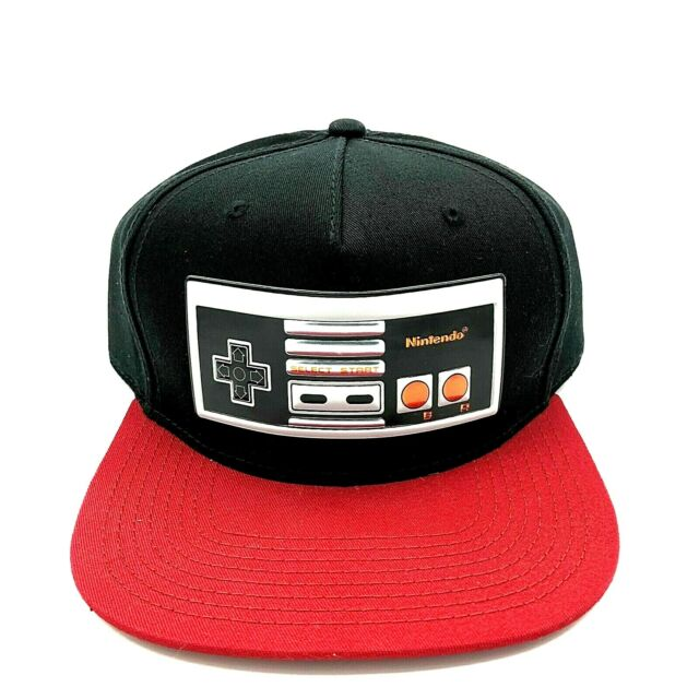 Bioworld NES Retro Controller Design Knit Hat Beanie Grey and Black