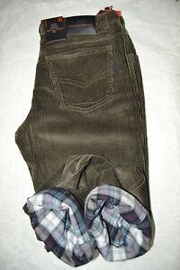 46 48 50 52 54 56 58 60 nero Pantalone uomo cotone caldo termico foderato tg