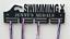 Strong 5mm Acrylic Ideal Gift Holder Personalised 2Tier SWIMMING Medal Hanger