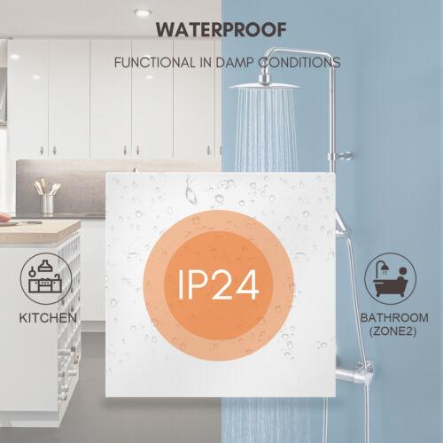 600W 2400BTU Electric Panel Radiator Heater Overheat Protection Waterproof White