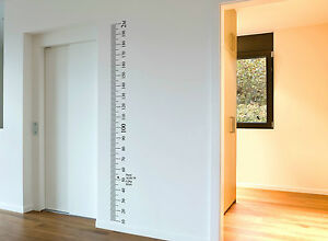 Ruler Wall Vinyl Decal Sticker Growth Chart Diy Wooden Vintage Height