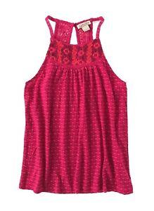 7511f3887f8 Lucky Brand - Womens XL - NWT - Pink Geo Clip Dot Crochet Lace ...