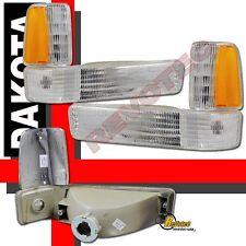 91-96 Dodge Dakota Parking Signal Corner Lights Lamps 92 93 94 95 1 Pair