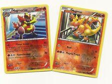 RARE MAGMORTAR #21 & MAGMAR #20- DRAGONS EXALTED Pokemon Cards- REV HOLO MINT