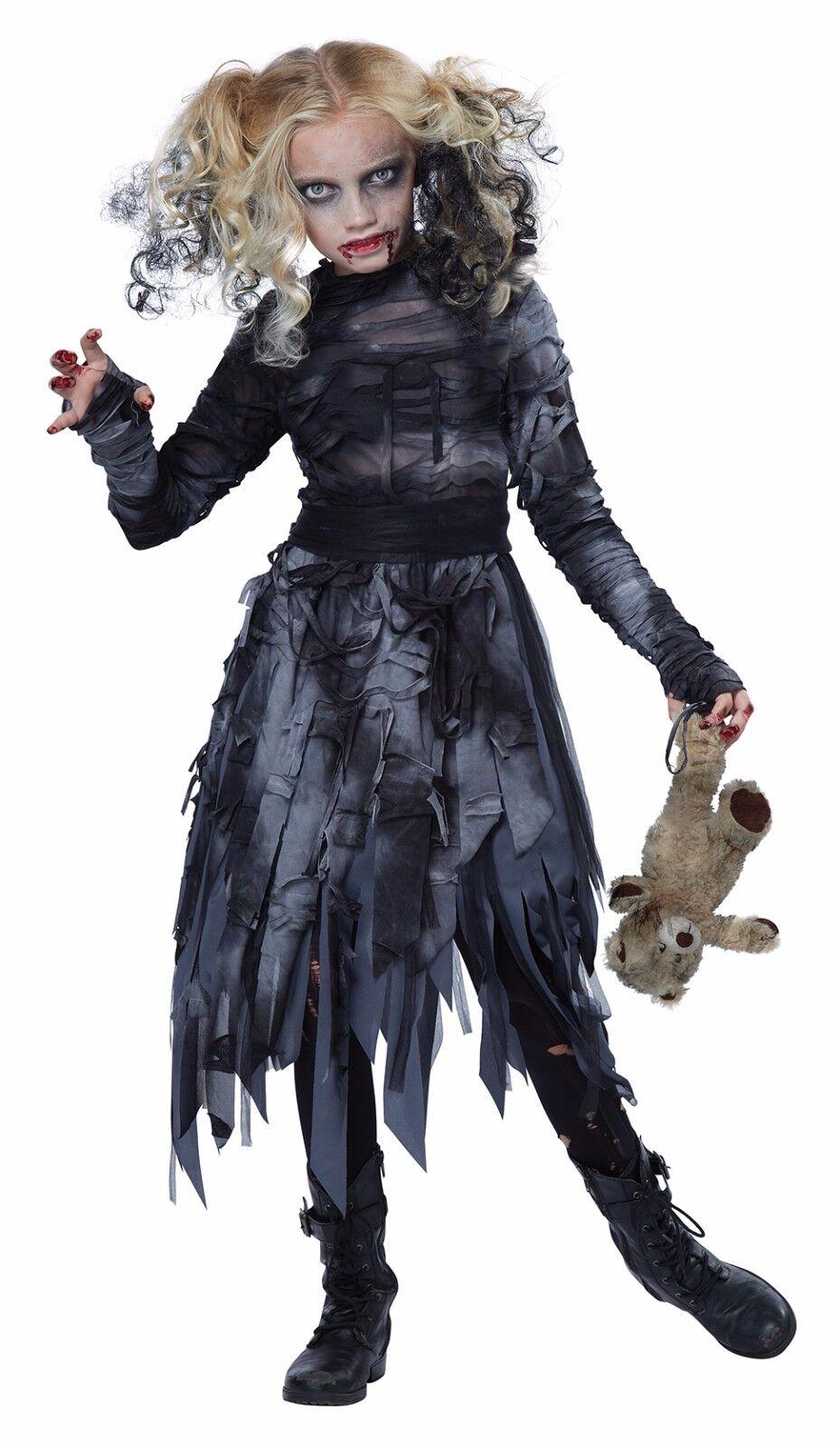 Walking Dead Zombie Girl World War Z Child Costume
