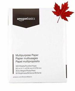 AmazonBasics Multipurpose Copy Printer Paper - White, 8.5 x 11 Inches, 1 Ream...