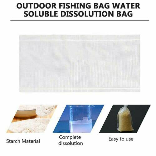 Details about  /50//100Pc Carp Fishing Bait Non Residue Tackle Fast Dissolving PVA Bags All Types