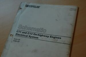 image is loading cat-caterpillar-c11-c13-truck-engine-electronic-wiring-