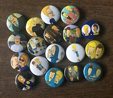 """Beavis and Butt-head set of 1"""" pinback buttons and side characters 90's TV"""
