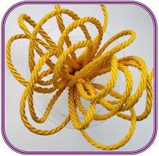 Yellow 1m Colour Berisfords Barley Twist Rope Braided Cord 5mm 37