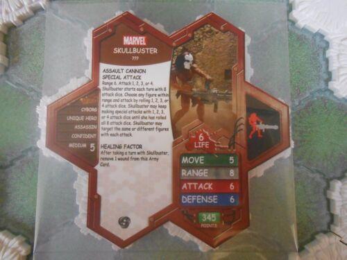Heroscape Custom Skullbuster Double Sided Card /& Figure w// Sleeve Marvel