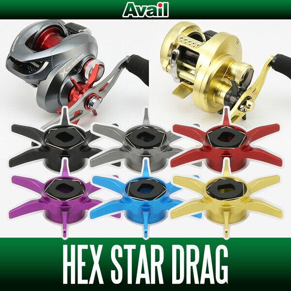 Avail Shihommeo Hexagonale Star DRAG 2 SD-HEX2-SH pour baitcasting reels