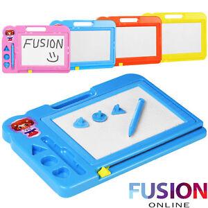 Magnetic-Scribbler-Doodle-Sketch-Drawing-Board-Toy-Girls-Boys-Kids-4-Colours