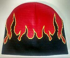 Flame Beanie Knitted Men's or Women's Unisex Hat