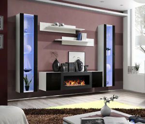 Details About Idea M2 Tv Wall Unit With Fireplace Entertainment Modern Media